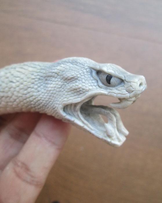 Snake Bone Knife Handle Carving Special Item