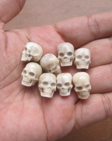 Carved Human Skull Bone From Antler For Wholesale
