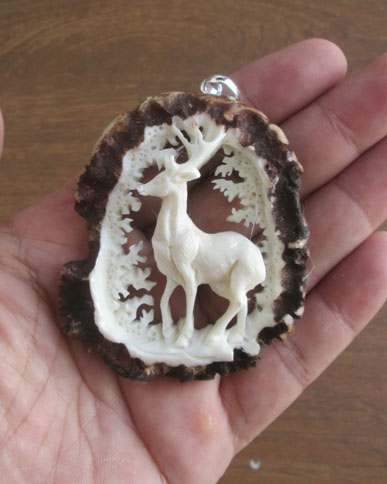 Deer Antler Carving Pendants