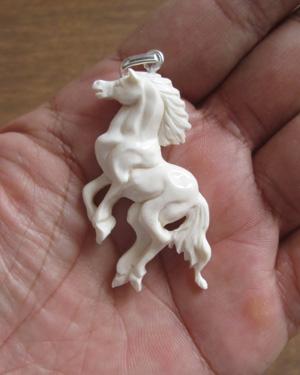 Horse Carved Bone Pendants For Wholesale