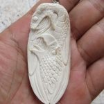 Snake Eagle Carved Bone Pendant