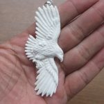Eagle Carved Bone Pendant