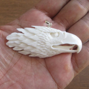 Eagle Carved Bone Pendant