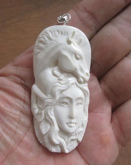 Goddess 057 Bali Bone Carving Wholesale