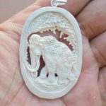 Mammoth Carved Bone Pendant